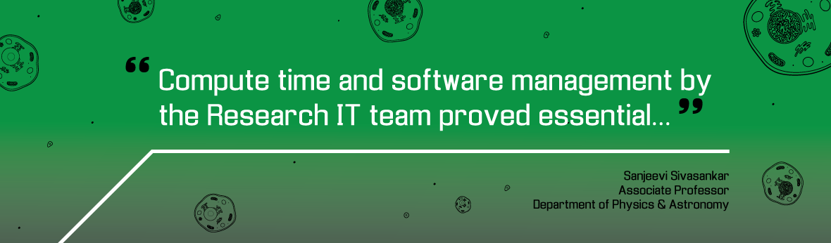 """Compute time and software management by the Research IT team proved essential"""